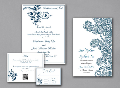 Wedding invitation- print