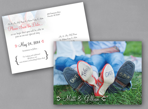 Wedding invitation- design, print