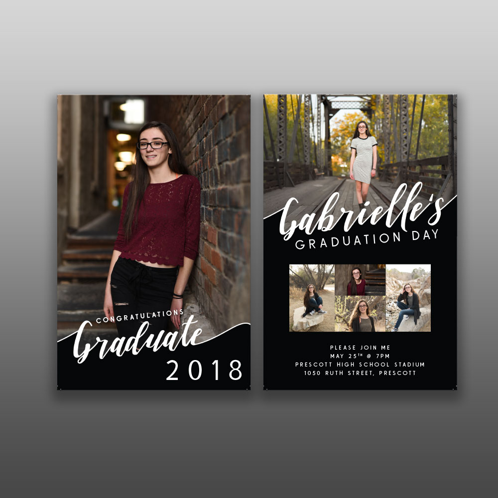 Graduation announcement- Design, Print