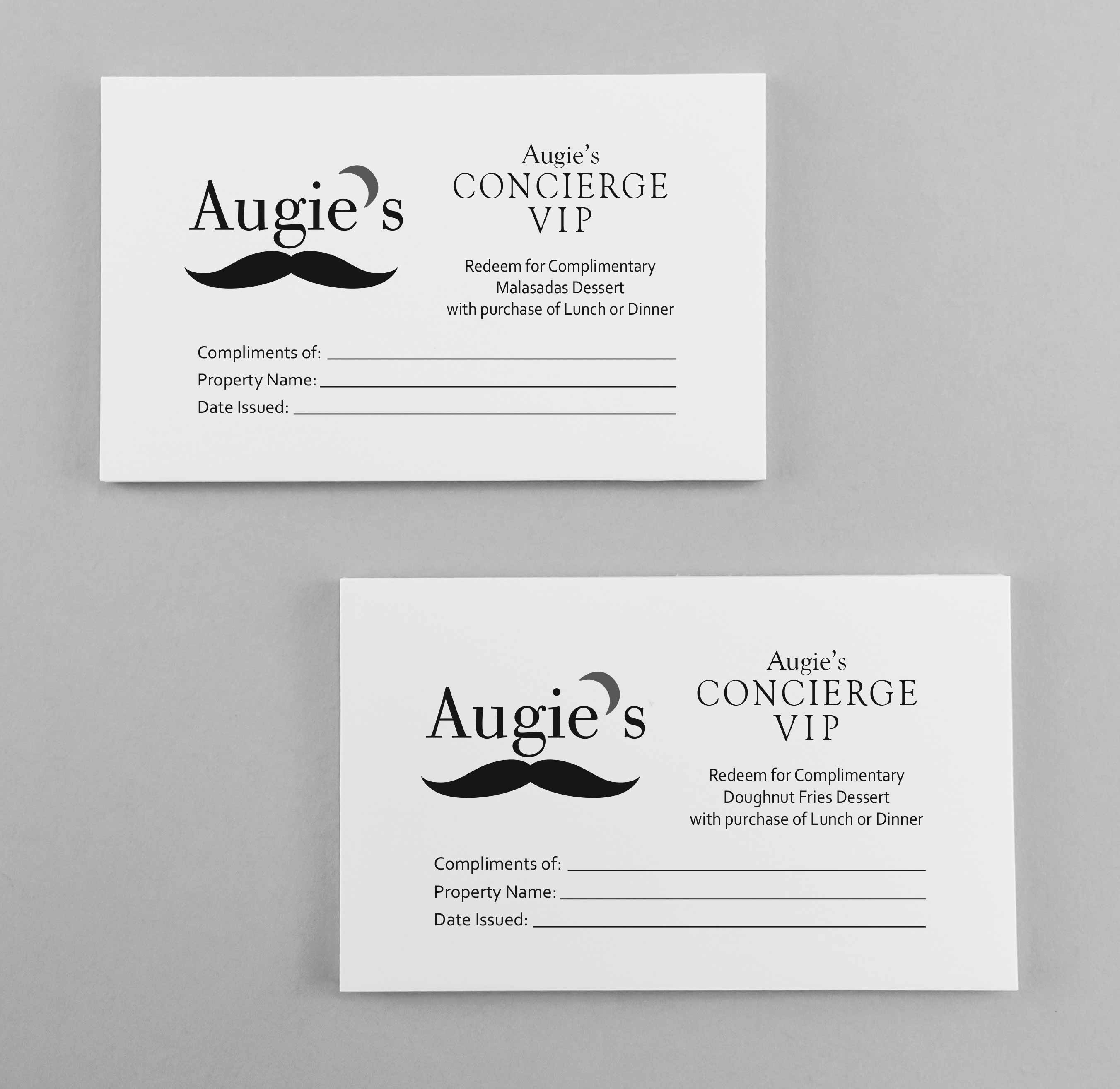Concierage cards- Design, Print